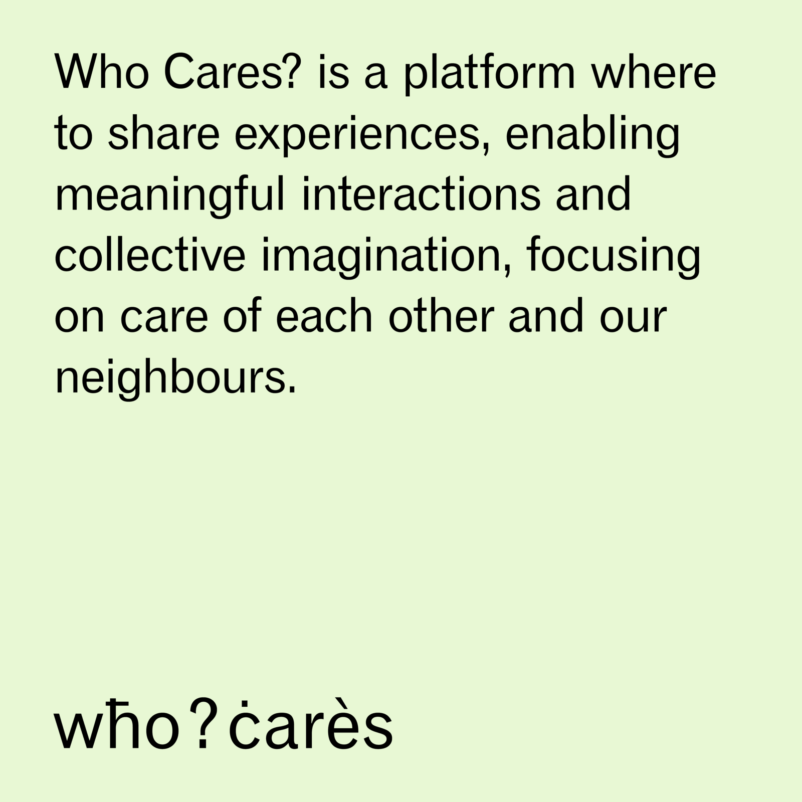 whocares IG Post Care verde